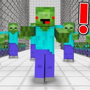 Minecraft Zombie Escape! Parkour POV Chase