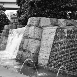 深川ギャザリア入り口の水景物