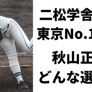 二松学舎の東京No.1左腕・秋山正雲の球速や変化球は?プロ注目の実力評価!