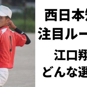 西日本短大の牛若丸・江口翔人特集!1年生ルーキーの経歴やプロフィール紹介