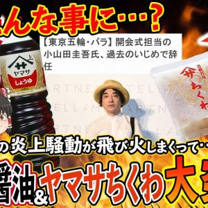 【ゆっくり解説】小山田圭吾氏の炎上騒動でヤマサ醤油がとばっちり!もっと関係ないヤマサちくわにまで飛び火が…
