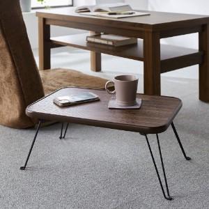 価格:1,980円【超特価商品】お部屋になじみやすい折りたたみ式ミニローテーブル