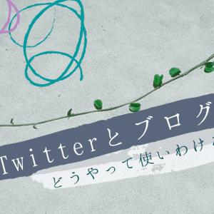 ブログとTwitter。どうやって使いわける??