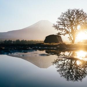 富士山眺めながらキャンプしたい