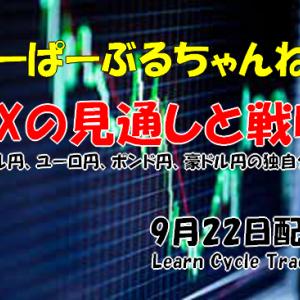 【FXの見通しと戦略】米ドル円、ユーロ円、ポンド円、豪ドル円の独自分析! 9月22日配信