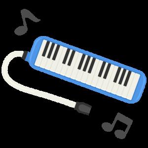 黒い、鍵盤ハーモニカ…