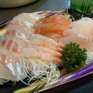 スーパー(ウオロク)で買ってきて家飲み 真鯛のお刺身
