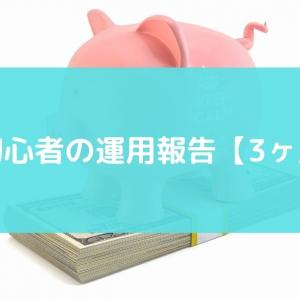 投資初心者の運用成績【3ヶ月目】