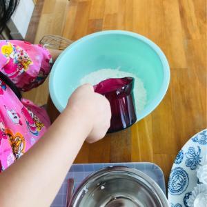 【子供と料理】簡単!蒸しパン作って自己肯定感を上げる!【混ぜて蒸すだけ、日清蒸しパンミックス】