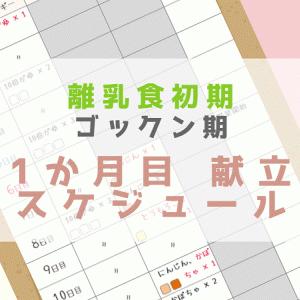 【離乳食】1か月目のスケジュール、献立【初期・5か月、6か月】