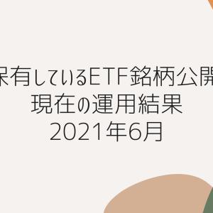保有しているETF銘柄公開 現在の運用結果 2021年6月