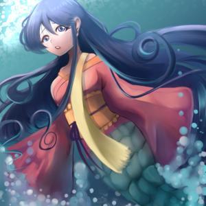 和風人魚姫…?(厚塗り)