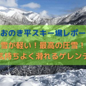 【ほおのき平スキー場レポート】軽い雪質!圧雪も最高で気持ちよく滑れるゲレンデ