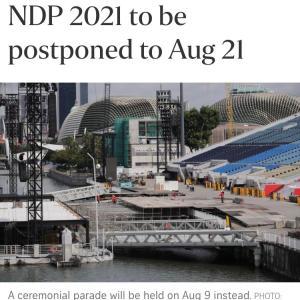 ナショナルデーパレードが延期・・。