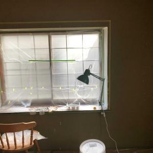 🧤『朝活3時間 途中💤 和室出窓 漆喰1度塗り編』🧤
