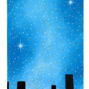 星空と街並みを描いてみたレポ