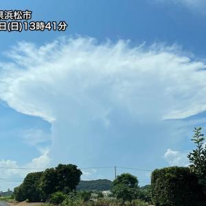 【画像】静岡県 巨大なかなとこ雲