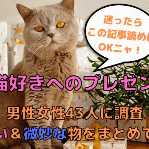 猫好きへのプレゼント男性女性43人に調査/嬉しい&微妙な物をまとめて解説