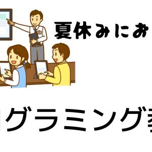 【夏休みにおすすめ】プログラミング教室