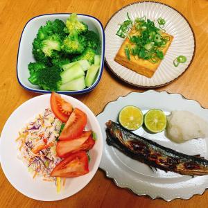 夕食***いつぶりの?秋刀魚