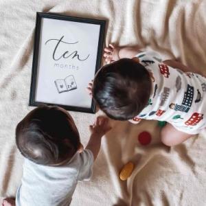 【育児記録】10か月の赤ちゃん♡わが家の双子たちの発達発育状況