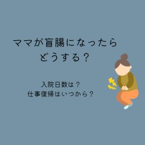 【盲腸】ママが虫垂炎になったらどうする?入院日数、仕事復帰はいつから?