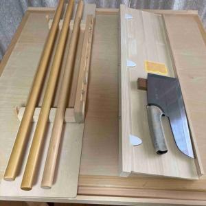 小スペースで使える、蕎麦打ち台の改良策
