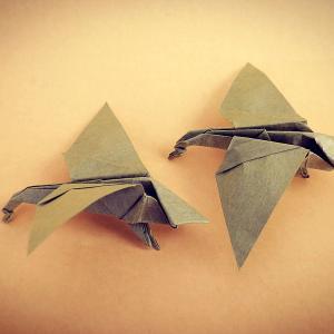 おりがみ:かり (Origami:Wild Goose)