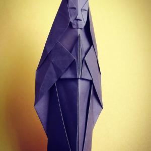 おりがみ:観音様 (Origami:Kannon)