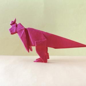 おりがみ:ランベオサウルス (Origami:Lambeosaurus)