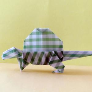 おりがみ:ディメトロドン (Origami:Dimetrodon)