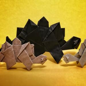 おりがみ:ステゴザウルス(Origami : Stegosaurus)