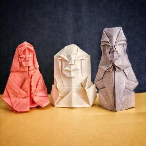 おりがみ:羅漢 (Origami : Arhat)