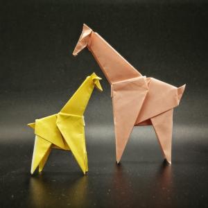 おりがみ:キリン (Origami : Giraffe)