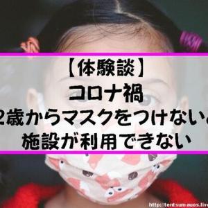 【体験談】都会では2歳からマスクが必要。2歳からつけはじめました