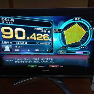 七音の精密採点90点チャレンジ【8/31】
