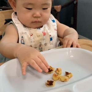 【離乳食後期】掴み食べ練習にピッタリ!さつまいものおやき🍠作り方