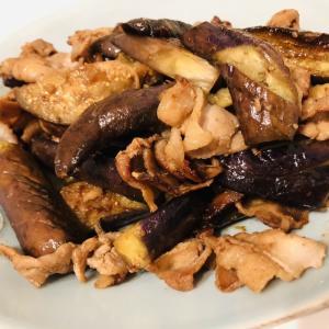 7/21晩御飯꙳★*゚豚肉とナスの味噌炒め&揚げとコンニャクの煮物