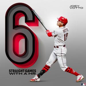 元MVPボットーが球団記録の6試合連続本塁打