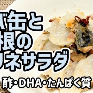 【ダイエットおかず】サバ缶と大根のマリネサラダを作るわよ!サバ缶でタンパク質補給!お酢で健康ダイエット!