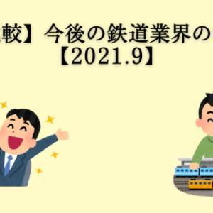 【徹底比較】今後の鉄道業界の株価は?【2021.9】