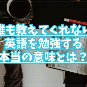 【英語嫌いな学生必見】現役外大生が教える!英語を勉強する本当の意味!【ネタバレ:多面的思考】