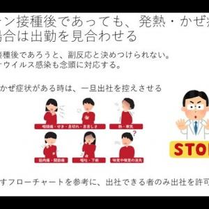 新型コロナウイルスワクチン接種後の発熱・かぜ症状(企業向け新型コロナ対策情報)