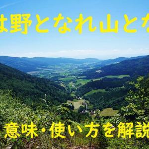 「後は野となれ山となれ」の意味とは?わかりやすい使い方と例文を解説!