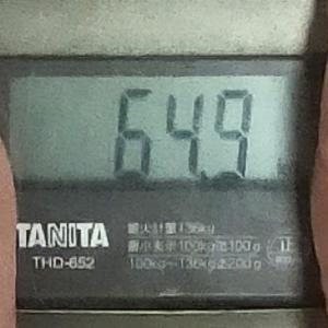 ダイエット記録50(64.9キロ↓)と犬
