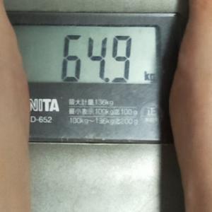 ダイエット記録52(64.9キロ)と犬