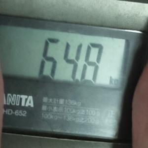 ダイエット記録54(64.8キロ)と犬