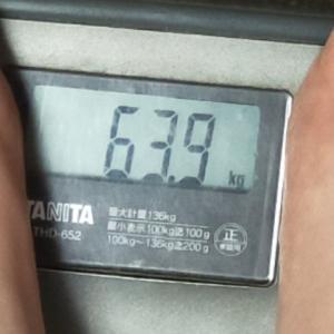 ダイエット記録56(63.9キロ)と犬