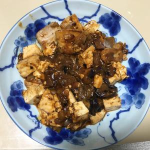 ナスと豚バラと豆腐で麻婆豆腐を作った話【1人前の素がない⇒後で発見】