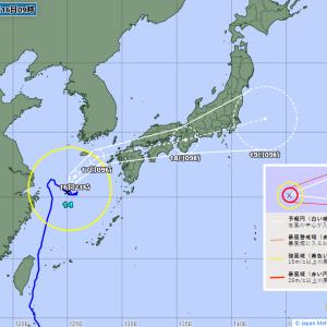 【画像】台風14号さん、渾身のカミソリシュートwwwwwwwww
